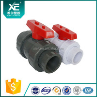 Blue Color UPVC True Union Ball Valve for Actuator