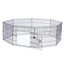 popular eight panels black strong double dog kennel