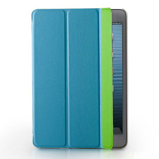 2013 newest ultra slim 3 folded PU leather flip case for Ipad mini 2 smart cover