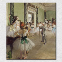 Canvas printed famous painting classic picture of Dance Studio