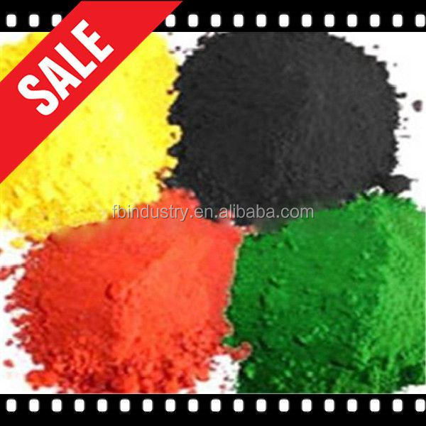 Red/Black/yellow/green/blue/orange Iron oxide