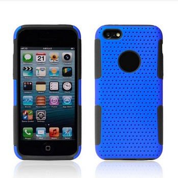 High Quality Net Mesh Hybrid Silicone Combo Case Cover for iphone 5C Free Shipping