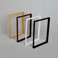 Wooden Stretcher Wood Frame White Black Float Modern Frame Gallery Frame