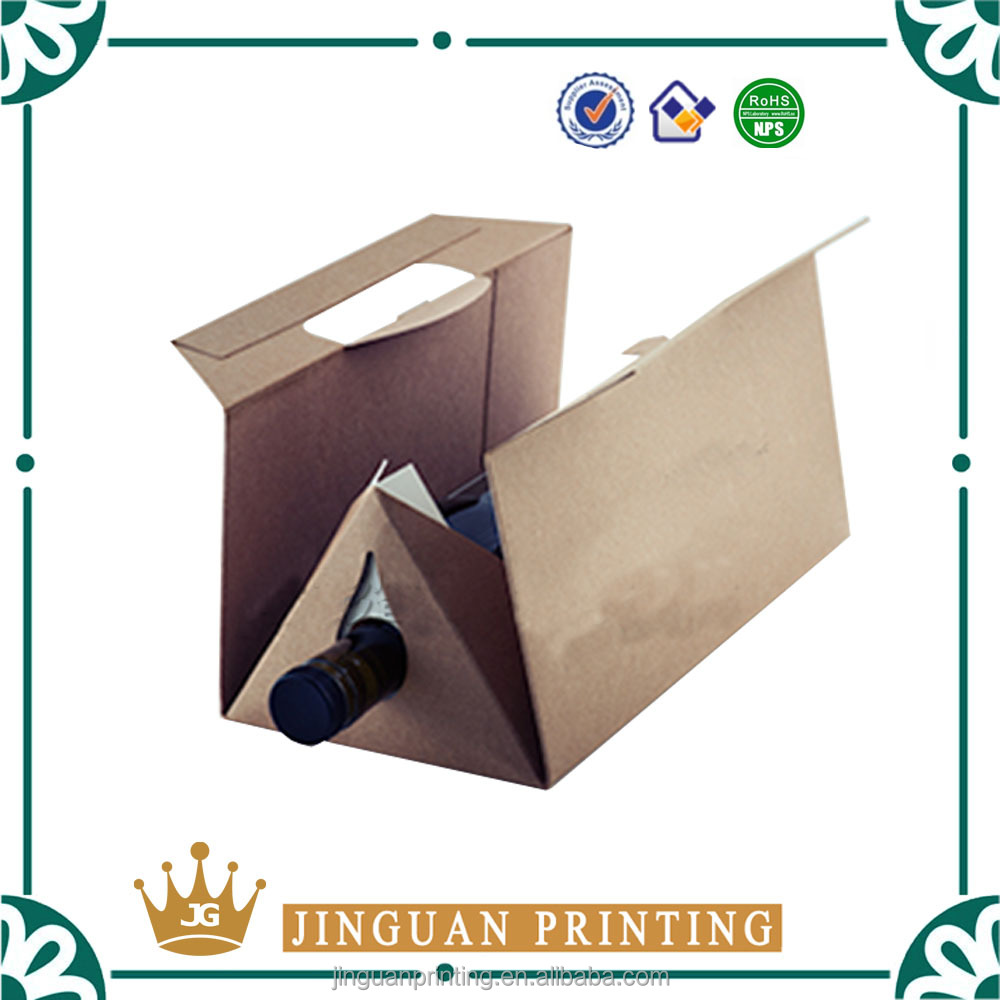 Customized printing eco- friendly cardboard paper custom printing logo wine box packaging