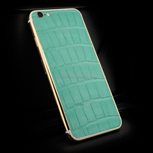 For iPhone 6S crocodile leather gold housing,Leather gold housing for iPhone 6 plus