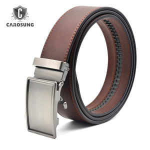 Guangzhou Supplier High Quality Custom Automatic Buckle Strap genuine Leather Belt For Man