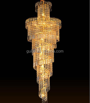 hotel project large luxury chandelier pendant lighting crystal chandelier from chinese lighting manufacturer