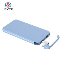 alibaba best sellers products build in cable power bank, distributors wanted electronics 5000mAh power bank in canada