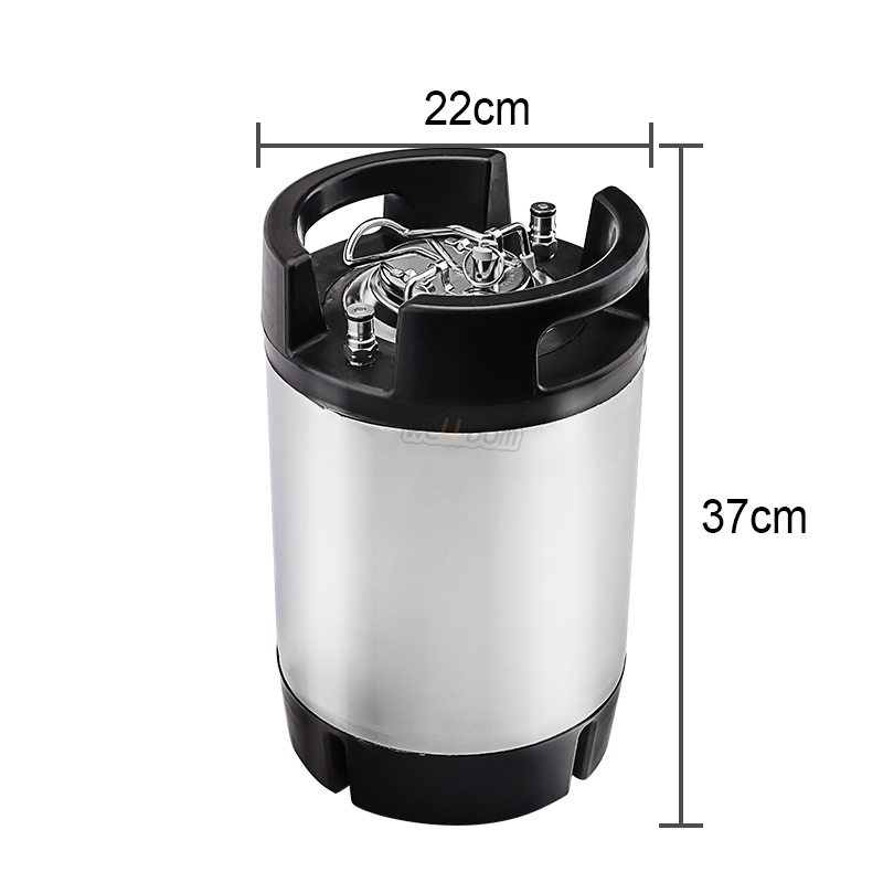 New 9L 2.5 gallon Cornelius ball lock keg with rubber handle Hombrew ball lock keg Pressure Relief Valve Lid