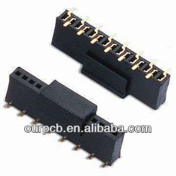 1.27mm SMT Single Row Female Header with Cap and Phosphor Bronze Contact