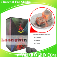 Shisha charcoal briquette for smoking alfakher tabocco