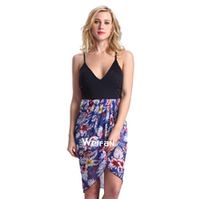 Flower Printed Skirt Backless Nightwear Sexy Erotic Night Dresses For Women