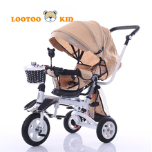 Easy foldable 3 wheel toy vehicle children metal frame tricycle / push baby trike new model / baby lexus trike