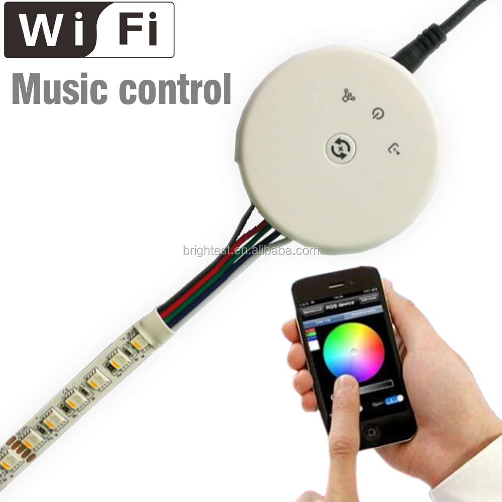 DC12-24V Wifi LED Controller RGBW 4 Color. Smart UFO LED Wifi Controller for RGB led strip, 4 Channels RGBW Wifi Controller