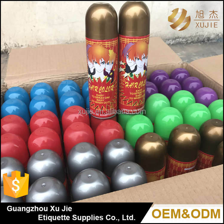 Factory price China custom best volumizing grey and gold color hair setting spray