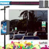 Advertise hot sale clear vedio single pole p6 HD remote control led display
