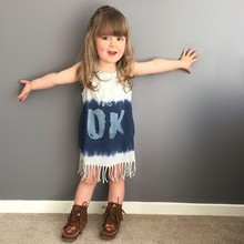 Wholesale For Children <strong>Girls</strong> Sleeveless Cotton Princess <strong>Dresses</strong> With OK Letter From Korean