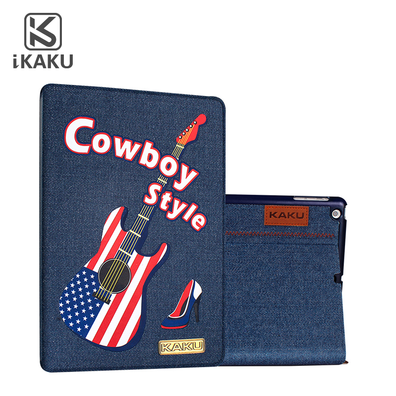 High quality leather western cowboy minion case for wallet tablet pc leather casefor ipad mini