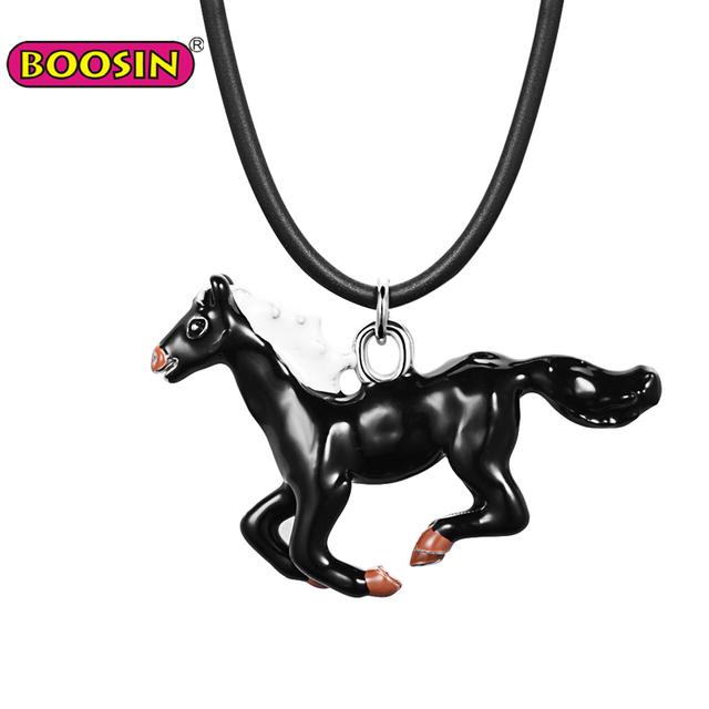 Alibaba Online Shop China Fashion Metal Running Horse Necklace Pendant Wholesale