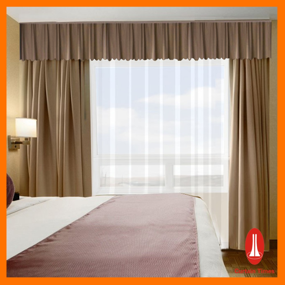 100% Polyester Embroidery Window Fabric Curtain For Hotel