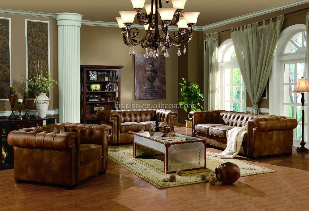 Bisini Luxurious Genuine Leather Living Room Sofa Durable Living Room Furniture Moq 1 Set Buy