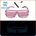 halloween China party supplier plastic EL wire flashing sunglasses,fashionable ray ban sunglasses glow in the dark