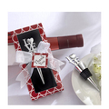 Wholesale love style metal wine bottle stopper set for wedding favors gift