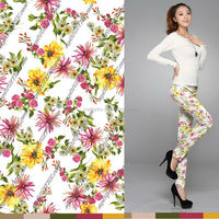 custom digital print cotton voile fabric embroidered fabric leggings fabric