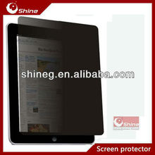 9H Laptop anti-spy privacy screen protector for Apple IPAD 2