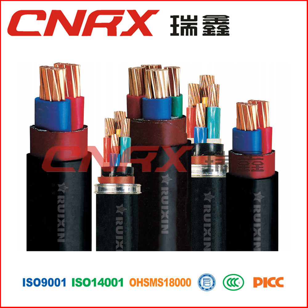 Made in China Ruixin Group 0.6/1kv 4 core 4mm under armour sports wear PVC Insulated electrical power cable