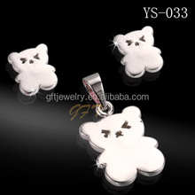 China wholesale jewelry settings without stones teddy bear jewelry sets