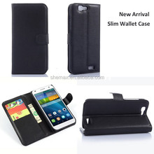 Slim Wallet Leather Case For Huawei Ascend G7