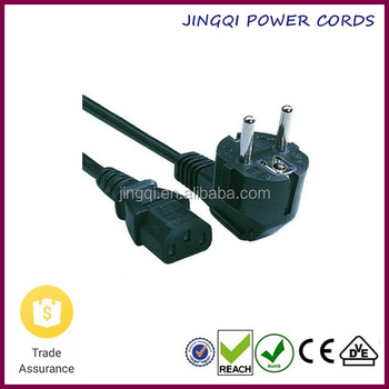 Euro Schuko Plug to IEC 60320 C13 Connector Power Cords (VDE/CE approval) 2.5M