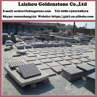 China flamed blind paving stone tactile tile