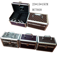 cosmetic factory supply wholesale custom train and mirror makeup case