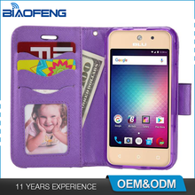 Hard Dual Layer Flip Wallet Card Slot Holder Leather Wholesale Mobile Cover Cell Phone Case For Blu Vivo 5 Mini