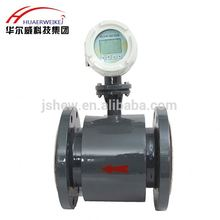 LCD digital display Big pipe size liquid nitrogen magnetic flow meter