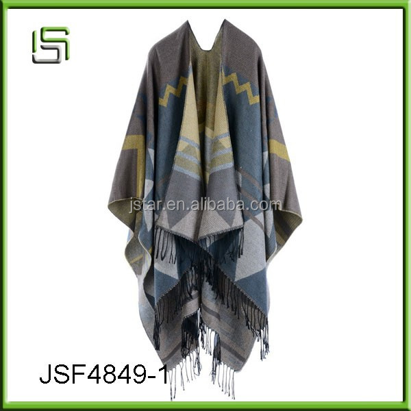 Bohemian tassel imitation cashmere fall and winter shawl shawl cloak
