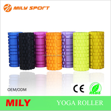 crossfit gym exercise high density grid hollow eva foam roller for yoga and pilates training