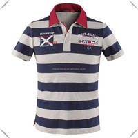 New Fashion wide stripe POLO for Men shirts, Casual Stripe Sport Mens Polo Shirt wholesale, men polo with embroidery logo