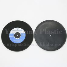 with best price vinyl silicone rubber record coaster custom logo printed beer coasters for sale