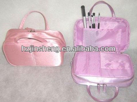 promotion satin cosmetic bag brush bag