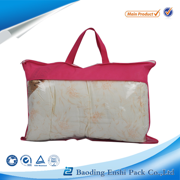 pvc leather material and round bottom pouch pillow bag