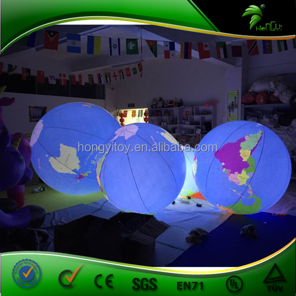 Inflatable Model Type Decorative Planet Balloon, Self Inflating Helium Balloons, Inflatable Realistic Earth Balloon For Outdoor