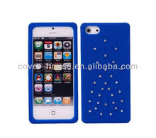 Peacock Design Diamond Silicone Skin Case for iPhone 5 5G