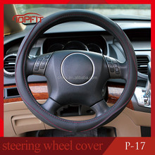 2016 NEW temperature resistant steering wheel cover, pu material, China OEM manufacture, fitting for universal car models (P-17)