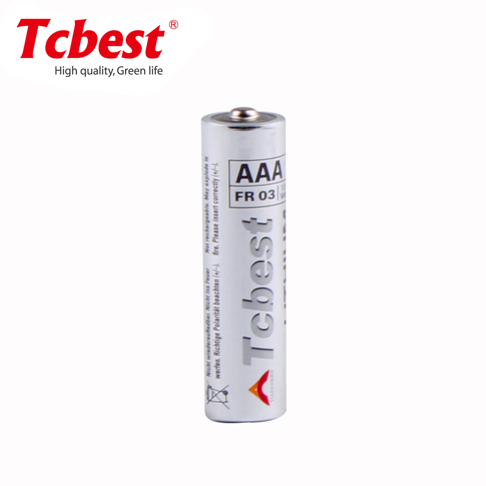 AAA Lithium battery 1.5V 10440 battery LR03 Li-FeS2 battery 1100mAh
