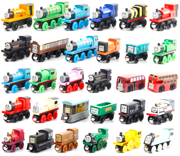 Hot selling wooden magnetic thomas train toy