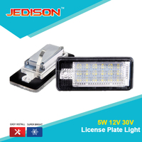 Error Free Xenon White OEM Auto Led License Number Plate lamp case for Audi A3 A4 A6 Q7