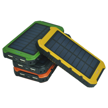 7000mAh solar power bank, solar panel power bank 7000mAh with dual USB made in China